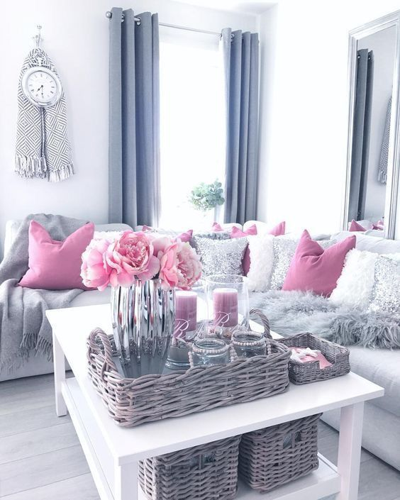 Pink And Grey Living Room Decor Modern Pink Living Room Living Room Decor Apartment