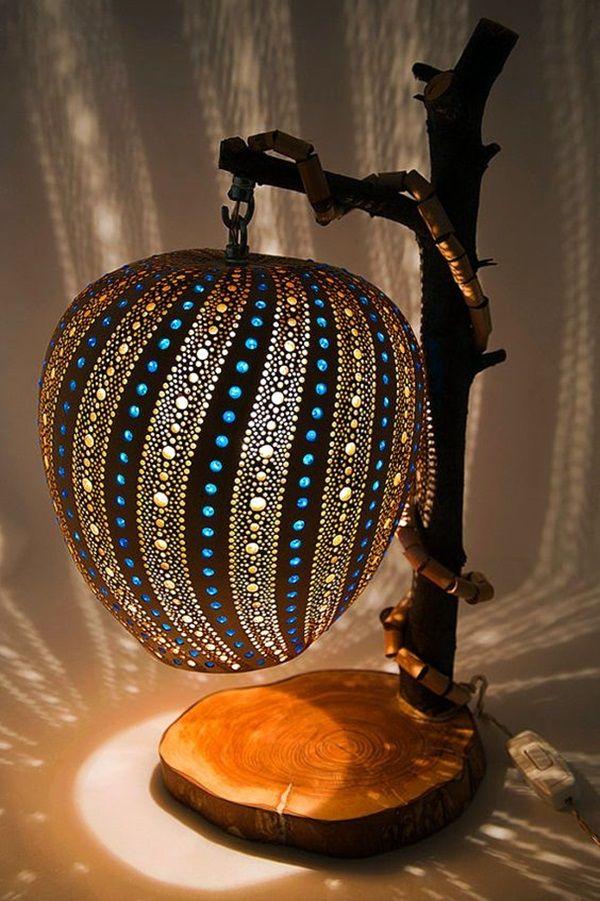 40 Amazing Art Inspired Gourd Lamps   Bored Art