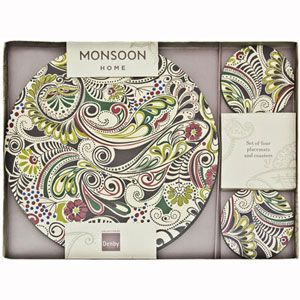 Denby Monsoon Cosmic Combi Set Coaster Set Placemats Monsoon