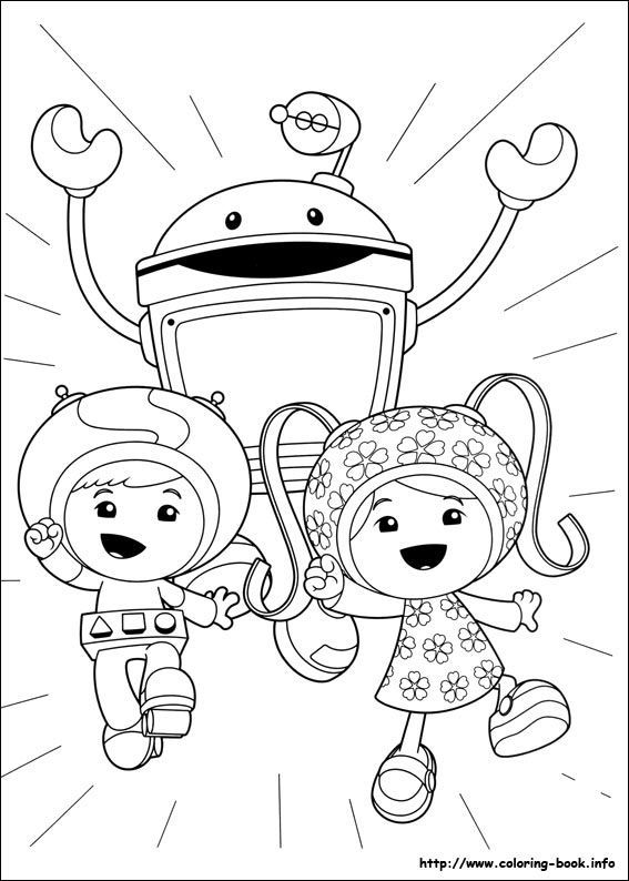 Team Umi Zoomi coloring | Christmas coloring pages, Team ...