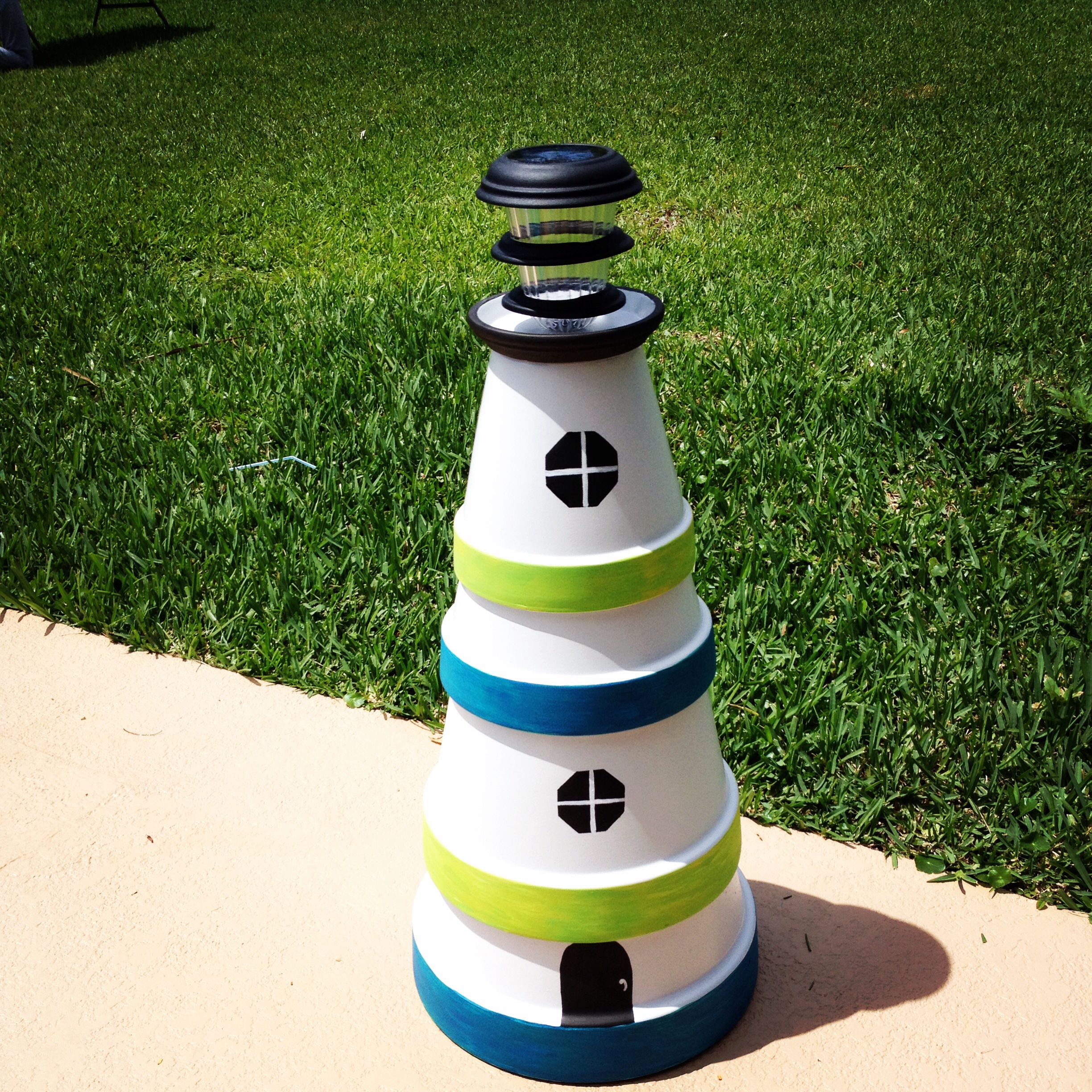 Diy make a clay pot lighthouse diy craft projects - An Album Showing Different Diy Clay Pot Lighthouse Inspiration