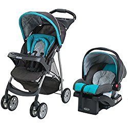 Graco Click Connect Literider Stroller Travel System, Finch Blue