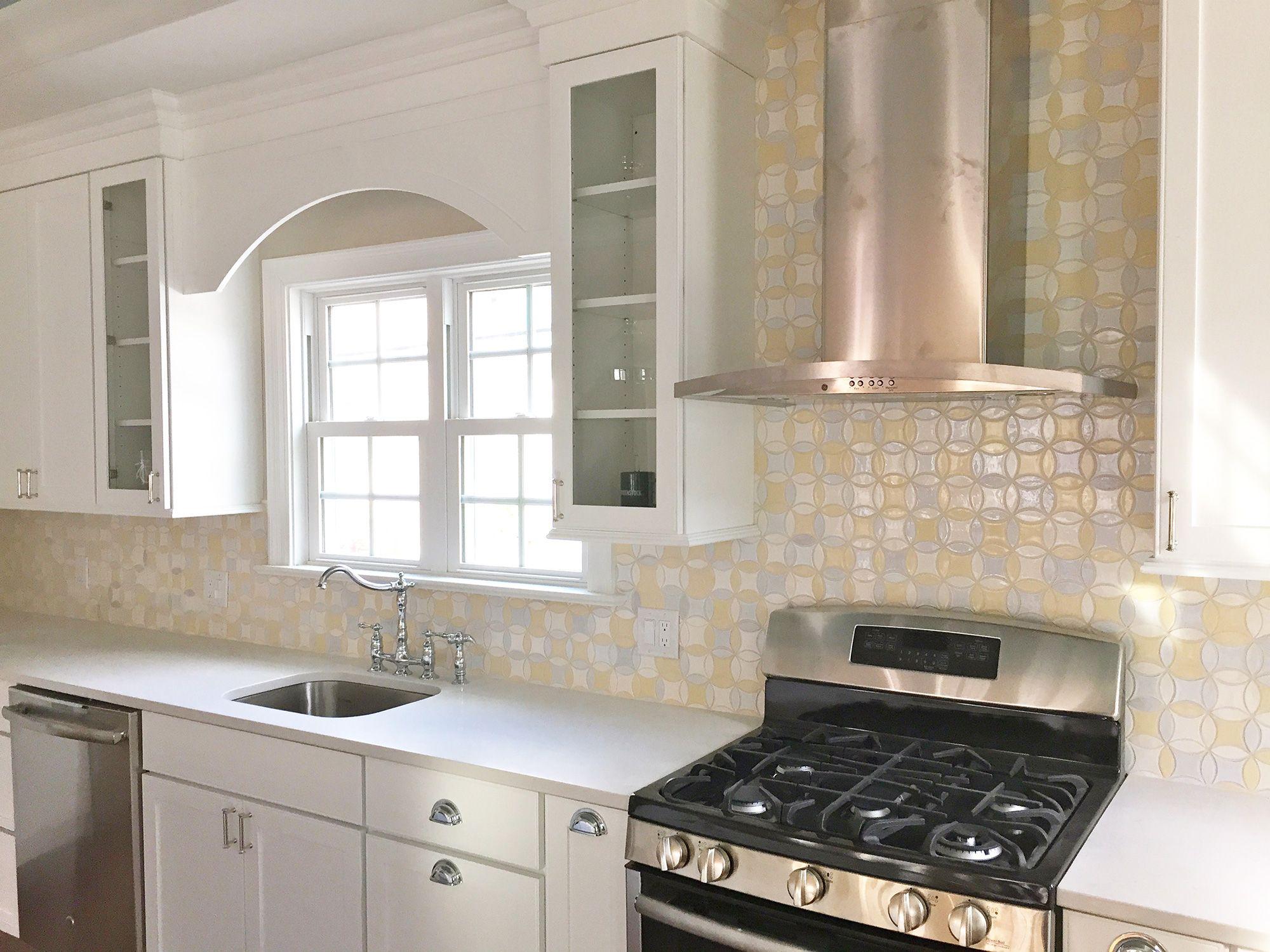 Mercury Mosaics | Moroccan Circles White Kitchen | Kitchen & Dining ...