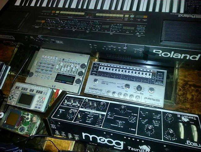cheapgear #roland #hs60 #midihybrid #moog #taurus2 #analog #premidi