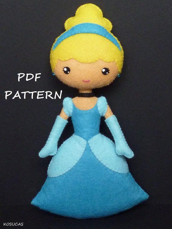 Patrón de costura PDF para hacer fieltro muñeca por Kosucas en Etsy ...