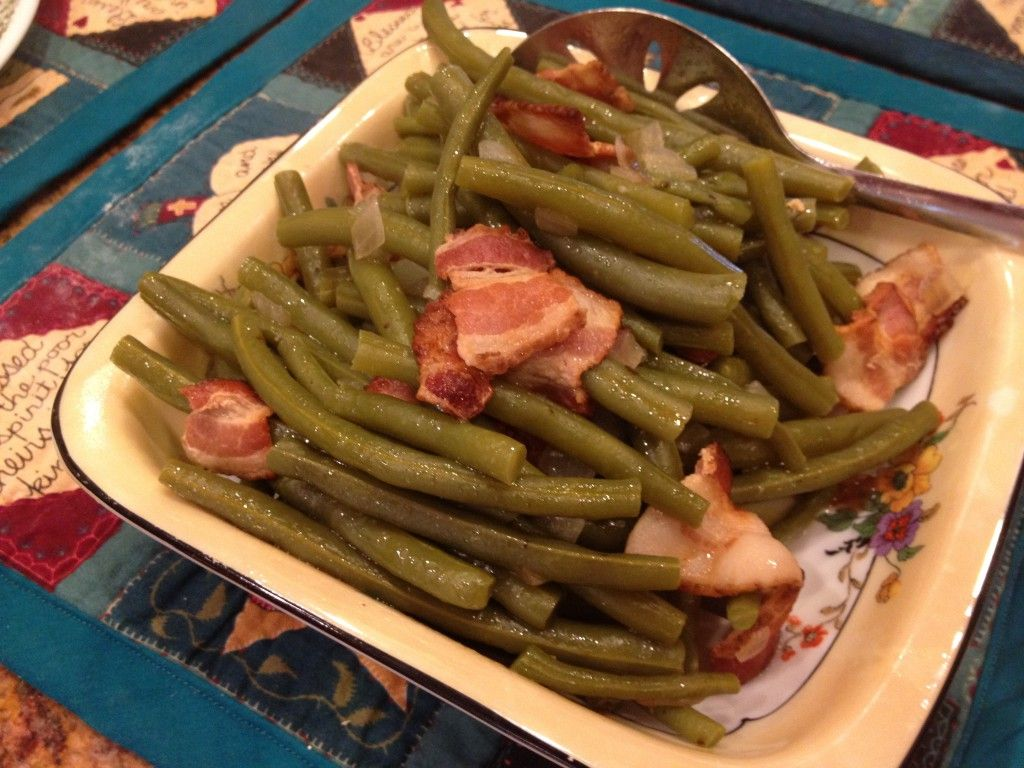how to cook fresh green beans without bacon