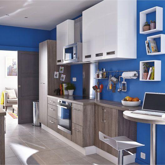 meuble de cuisine delinia composition type topaze imitation ch ne gris maison pinterest. Black Bedroom Furniture Sets. Home Design Ideas