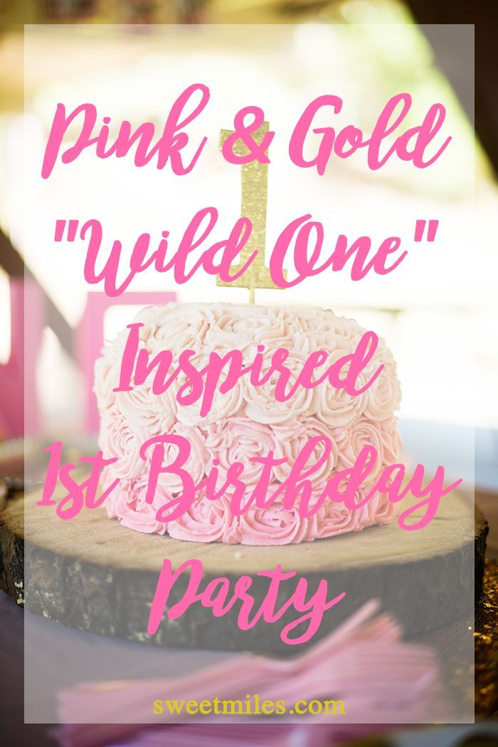 first birthday party pink and gold first birthday wild one first