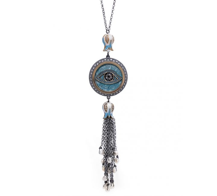 Designer Tassel Evil Eye Necklace Evil eye jewelry Eye jewelry