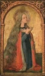 Francesco Pelosio: Santa Maria Maddalena. Il pittore operò in Emilia nella seconda metà del XV secolo.