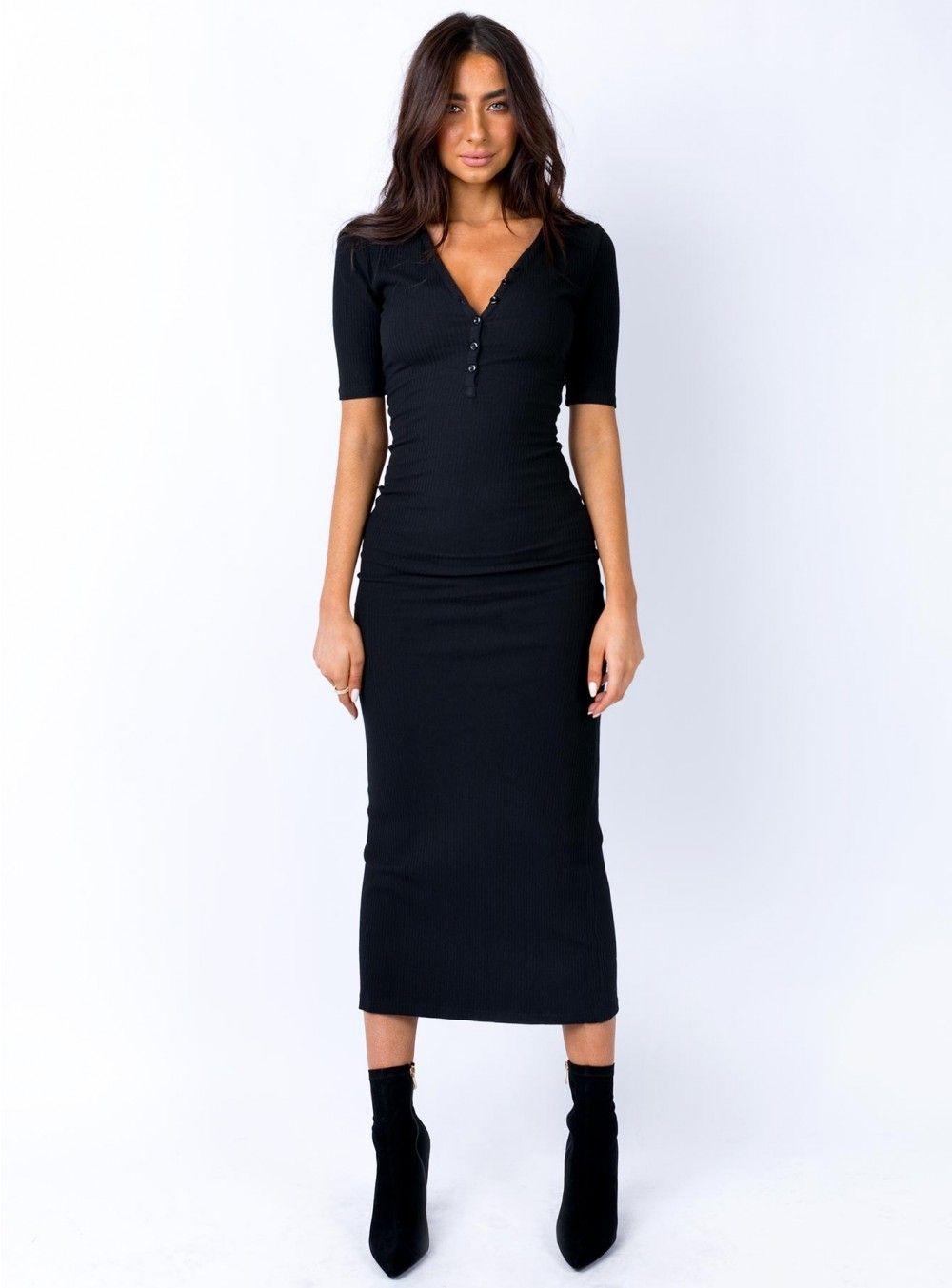 Chanted Midi Dress Black Midi Dress Stretch Midi Dress Shop Midi Dresses [ 1353 x 1000 Pixel ]
