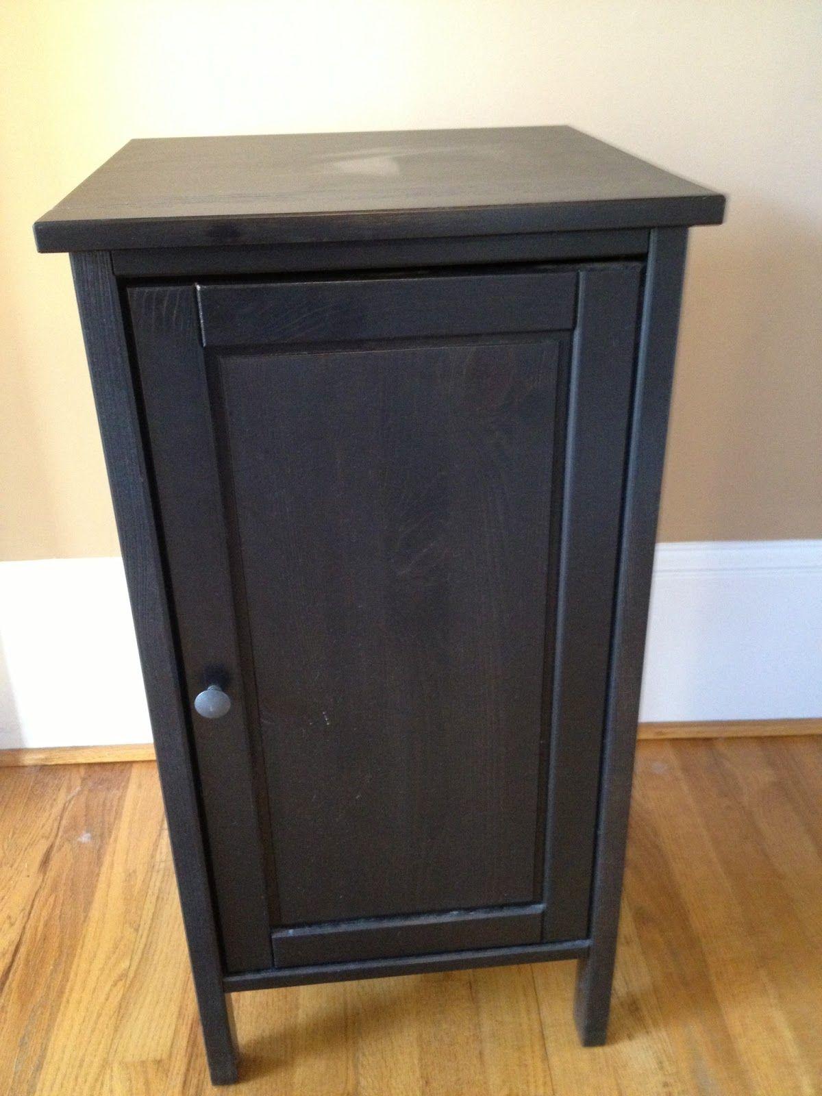 An Ikea Door Front Nightstand Became Powder Room Storage