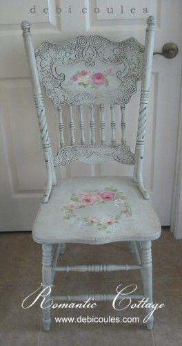 Debi Coules Shabby French Chic Art | Hand painted chairs