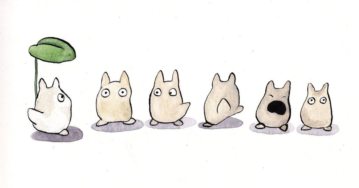 Cute! Mini Totoros   totoro   Totoro dibujo, Totoro y ...