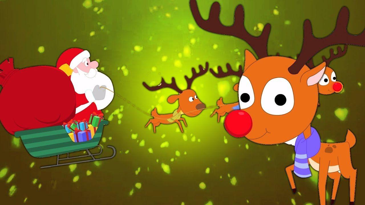 Rudolph La Renna Di Babbo Natale.Rudolph La Renna Dal Naso Rosso Canzoni Di Natale Video Bambini