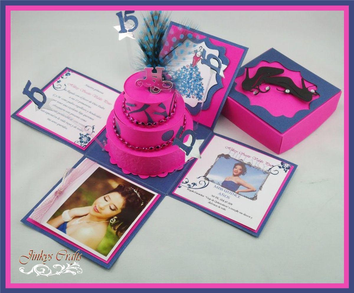 diy quinceaneros quinceanera exploding box invitation