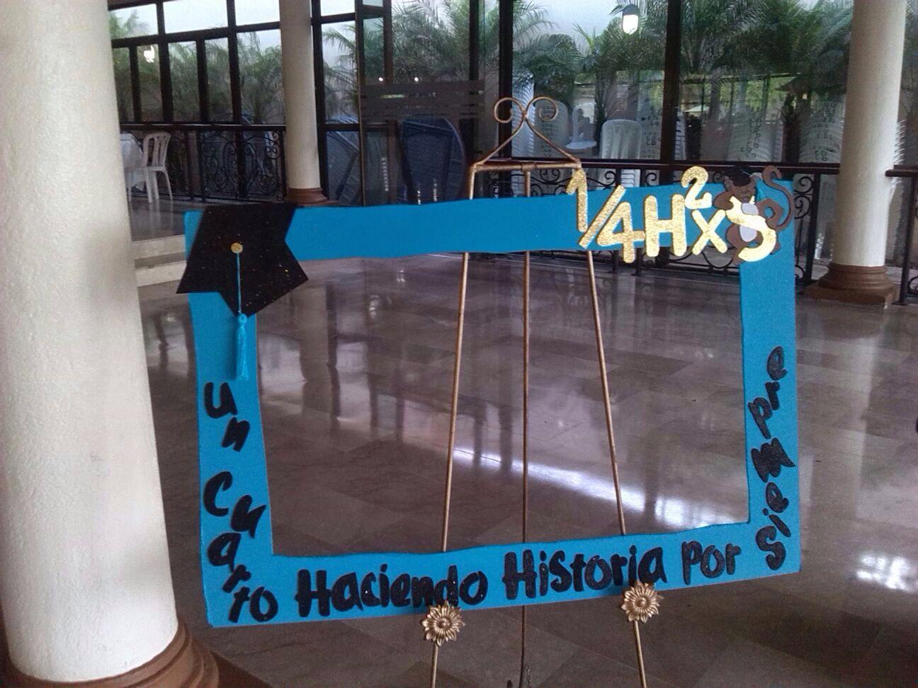 Marco para fotos / Photo booth personalizado graduación | Marcos ...