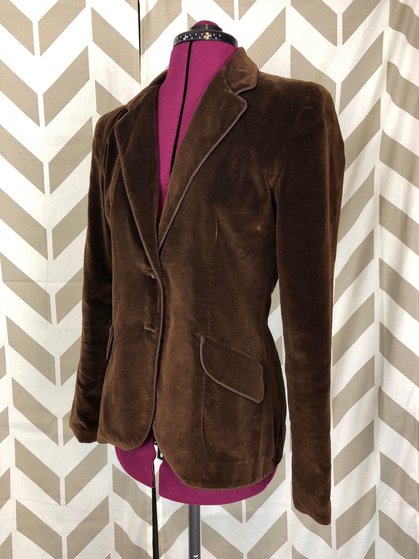 70s Velvet Jacket Small Brown Velour Jacket Etsy Velvet Blazer Women Velvet Jacket Velour Jackets