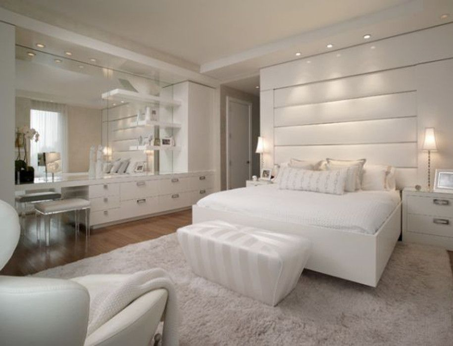 Pricey Luxury Penthouse In New York As Urban Living Space Gorgeous Luxury Nyc Penthouse All White Bedroom Decoration By Pepe Calderin Design