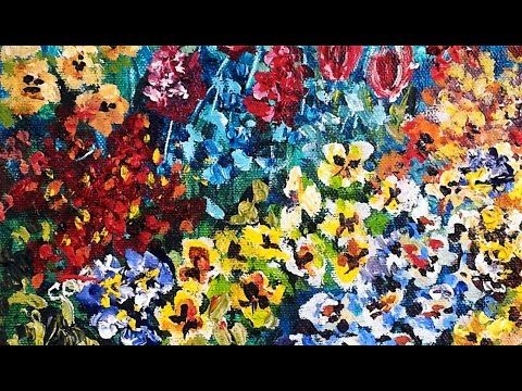 Simple Flower Garden Paintings incredible way to easy painting -flowers pansy garden full-hour