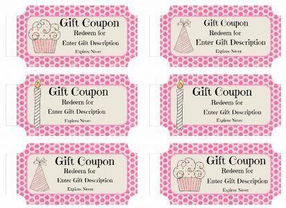 Free Custom Birthday Coupons  Products I Love