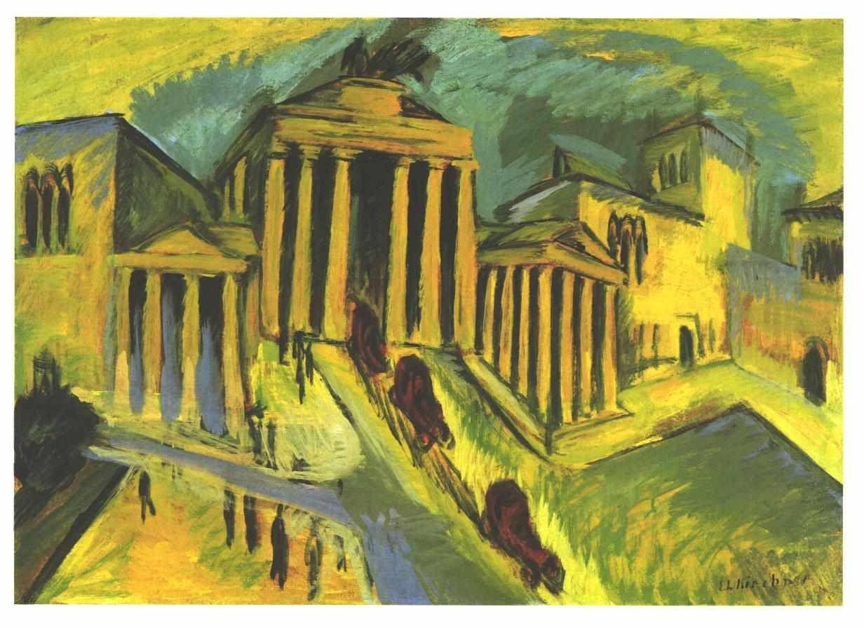Brandenburg Gate In Berlin Ernst Ludwig Kirchner