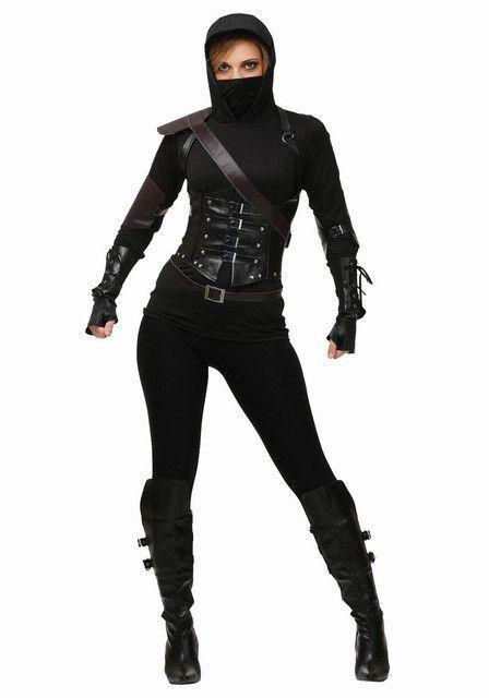 Adult halloween female assassin ninja costume halloween party adult halloween female assassin ninja costume diy solutioingenieria Images