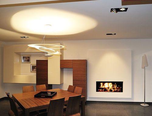 Foyer M Design Luna : Cheminée à bois double face foyer fermé