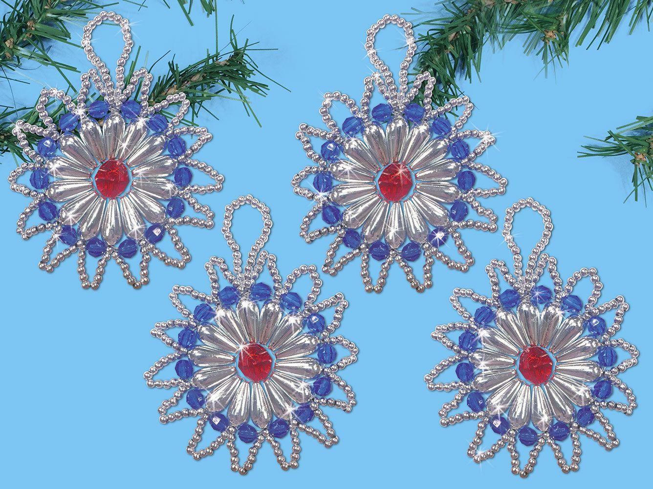 Design Works Starburst Beaded Ornament Kit Ebay Beaded Ornaments Ornament Kit Christmas Ornament Crafts