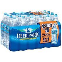 Deer Park Sportcap 100 Natural Spring Water 23 7oz 24pk Sam S Club Natural Spring Water Spring Water Bottle Deer Park Water