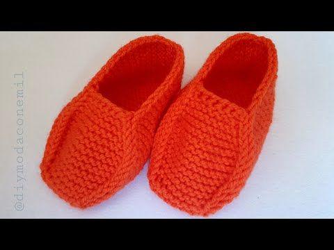 Pantuflas Botas Tejidas A Dos Agujas Tutorial Youtube En 2020 Zapatos De Ganchillo Zapatillas De Ganchillo Como Tejer Pantuflas