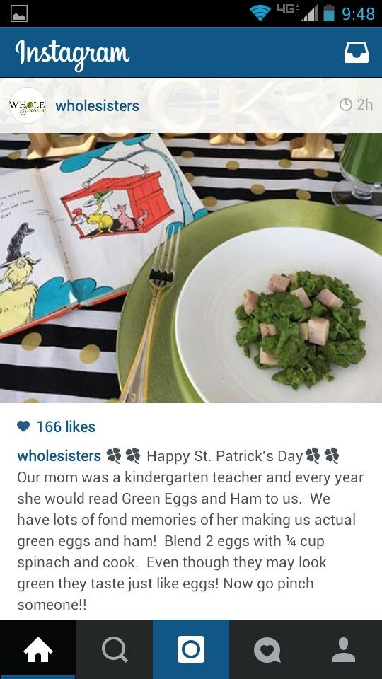 Green Eggs with spinach