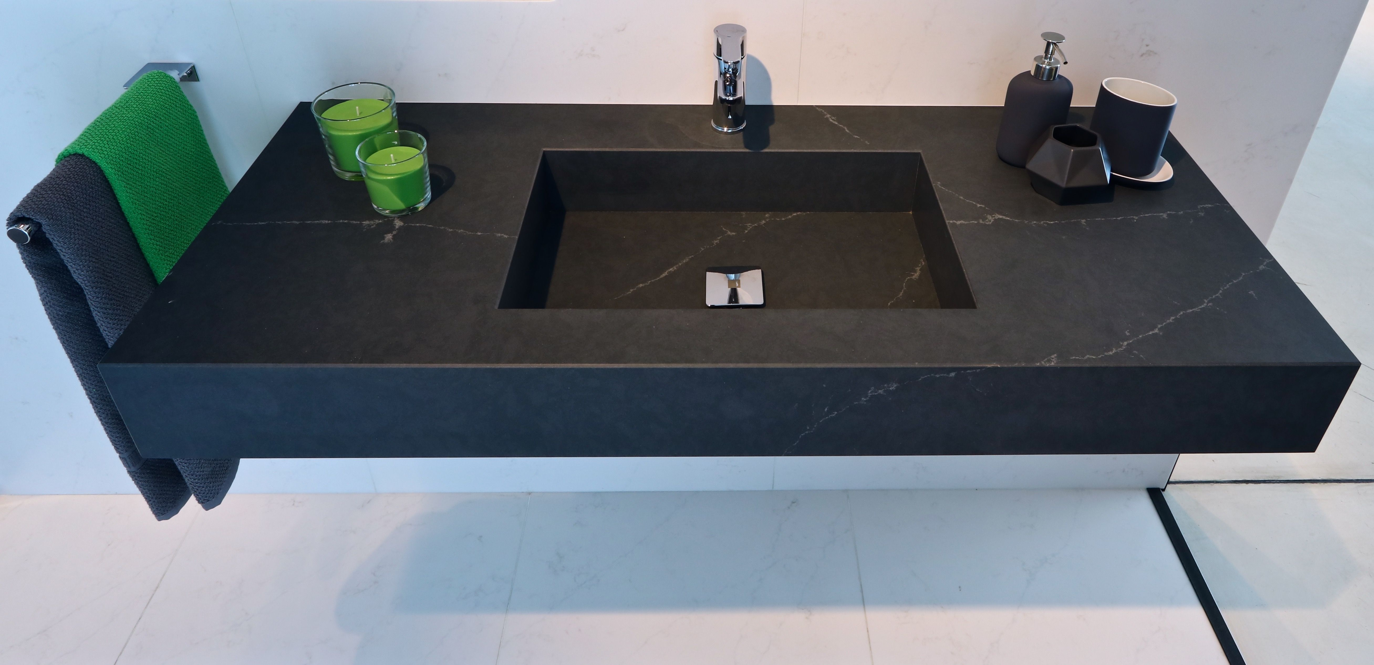 What a #TopsOnTop washbasin! With a greenish grey background with ...