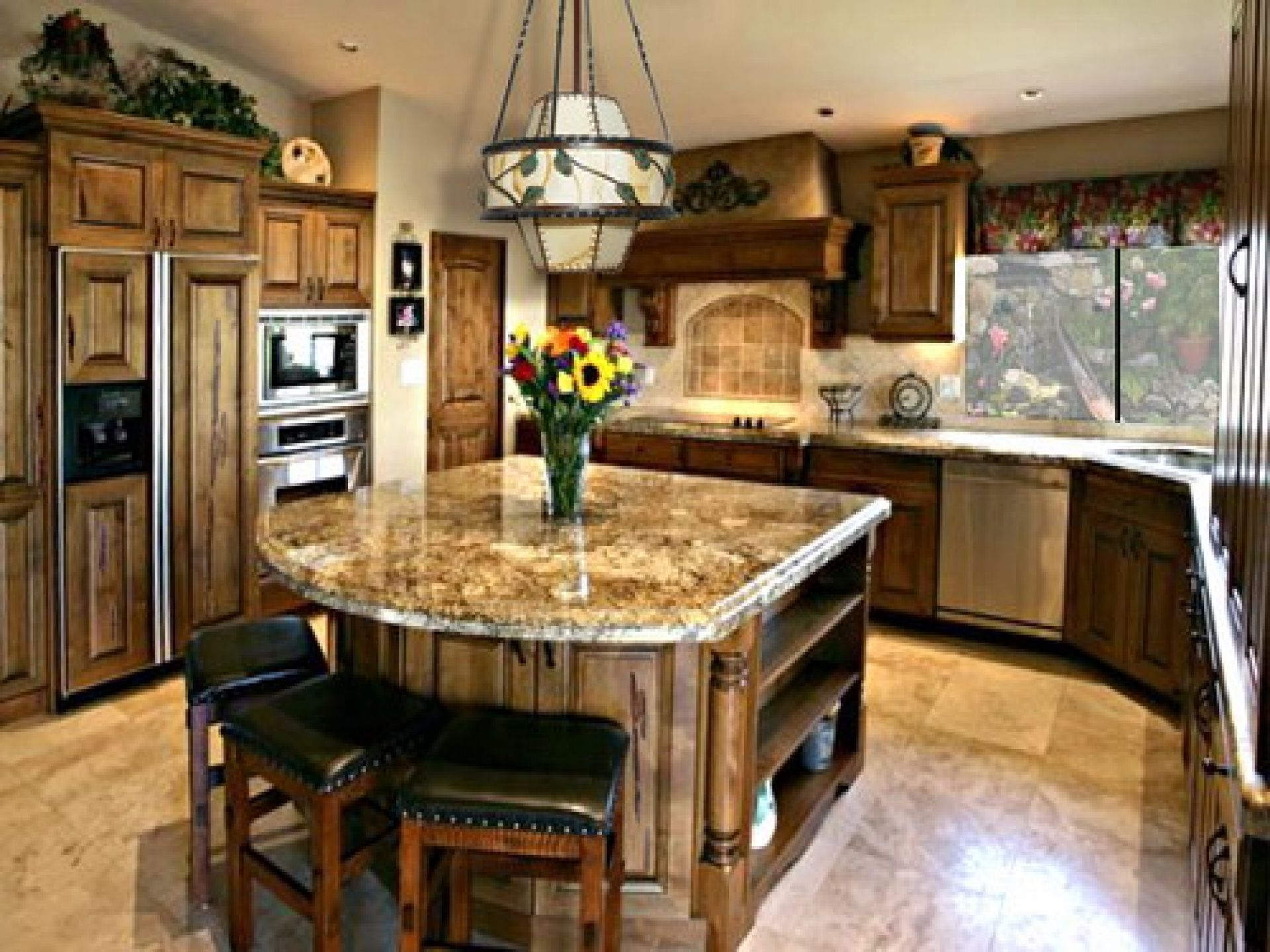Kitchen idea picture layout ideas island wall decorating wall