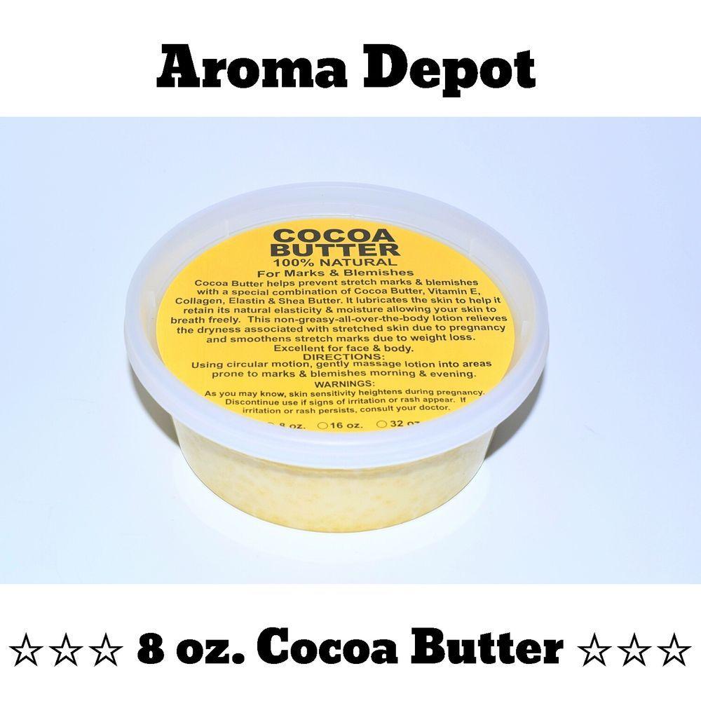 8 oz raw unrefined cocoa cacao butter pure prime pressed