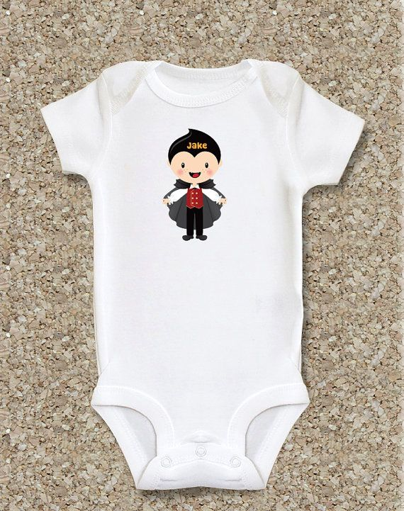 Personalized baby clothes baby boy halloween by babyplus on Etsy, $14.99