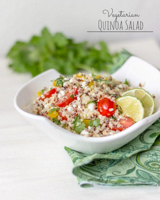 Vegetarian Quinoa Salad #15MinuteSuppers