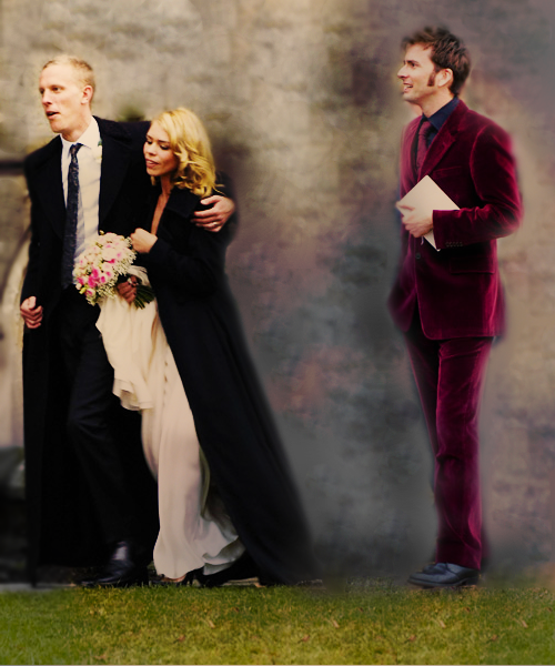 Billie Piper and David Tennant standing by... Doctor Who