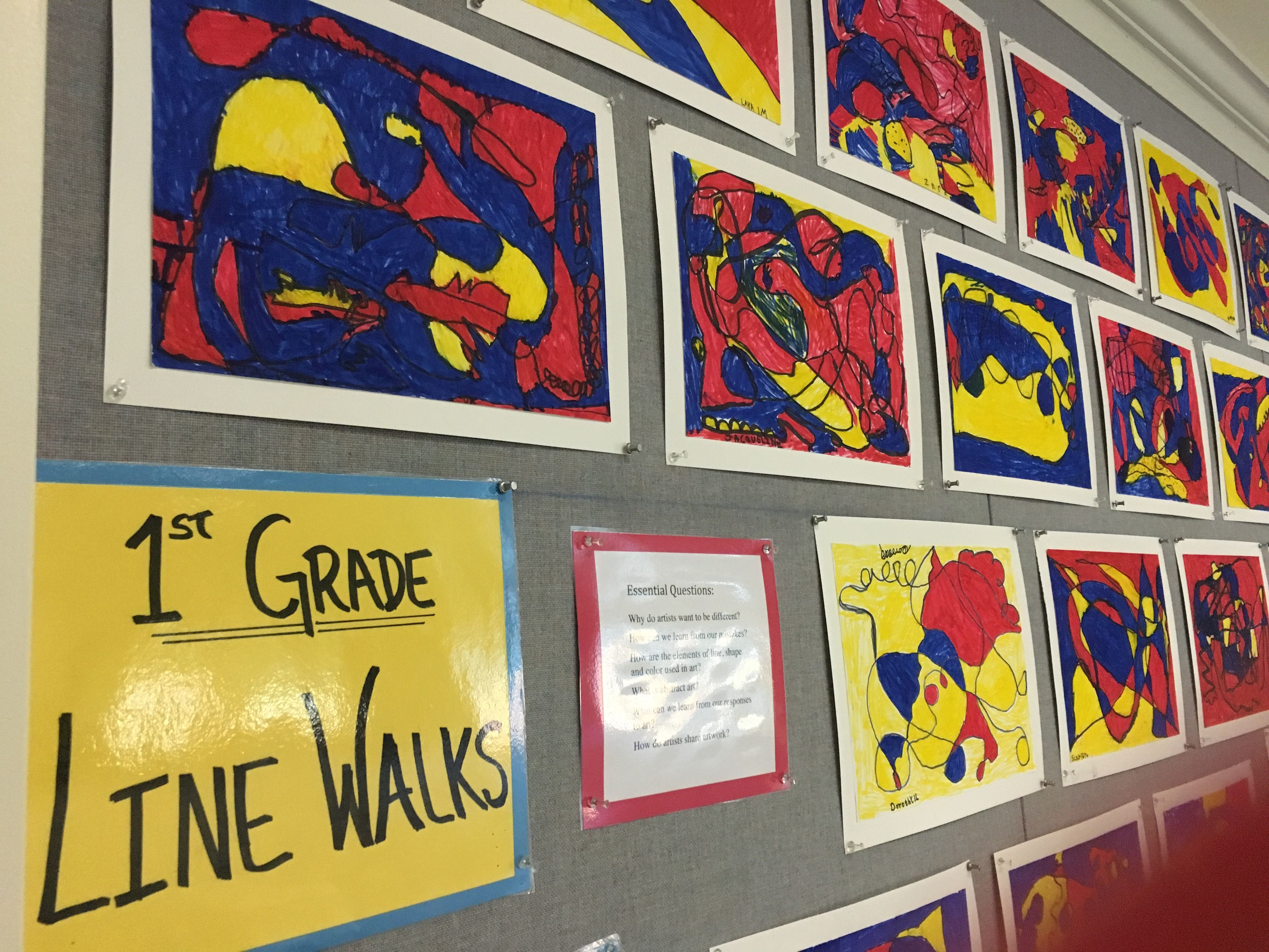 Line Walks  - 1st Grade