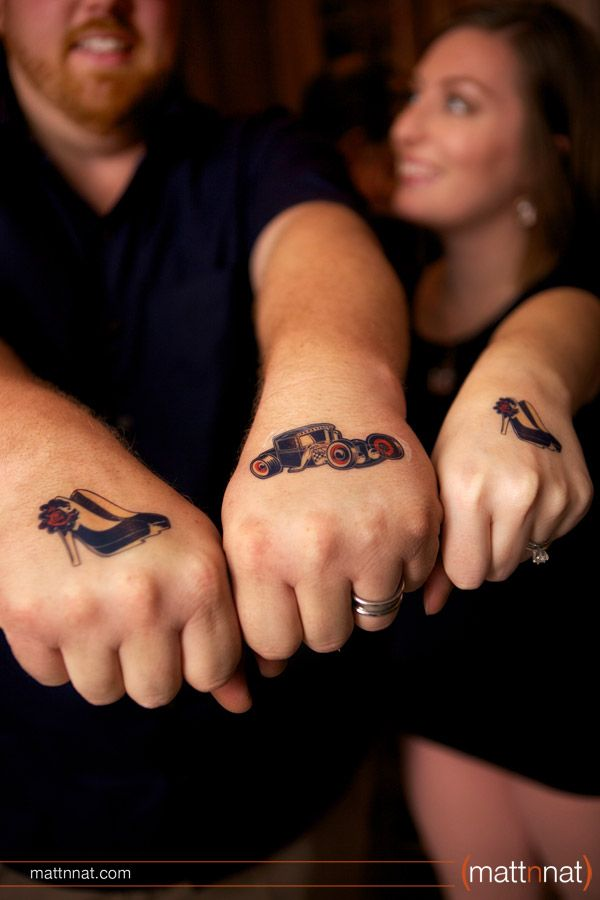 Diy temporary tattoos hot rods or heels gender reveal for Tattoo party ideas