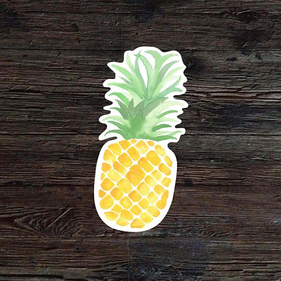 Pineapple Decal Pineapple Vinyl Sticker Watercolor Pineapple
