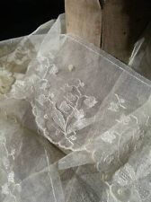 Long length unused antique French 1920s lingerie lace - lily of the valley