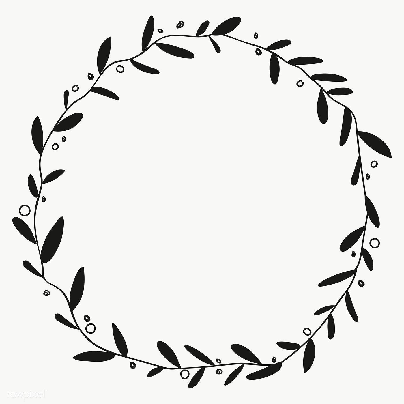 Black Wreath On Background Transparent Png Free Image By Rawpixel Com Marinemynt Black Wreath Gold Picture Frames Cross Stitch Fonts