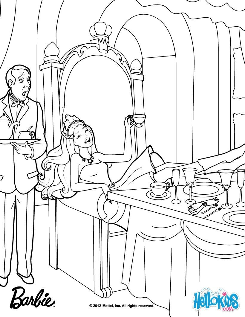 Keira disguised as Princess Tori coloring page. More Barbie the ...