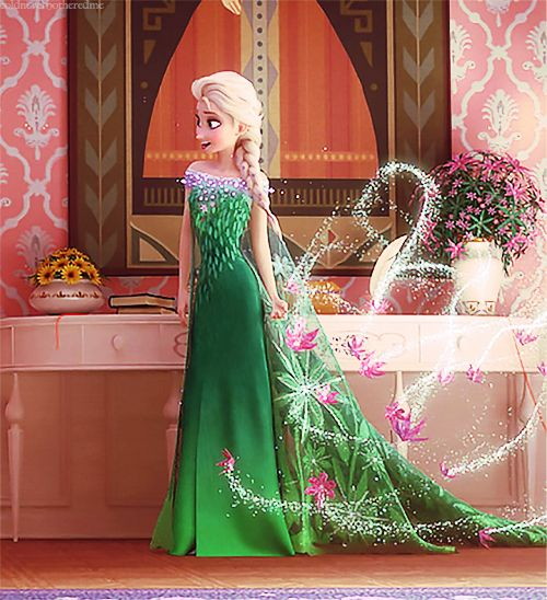 Frozen Fever<--- Actually it's called Frozen Forever... I saw this preview on TV for it so yeah but I LOVE HER DRESS :edit: oh uh I saw another preview and apparently it is Frozen Fever... Sorry guys