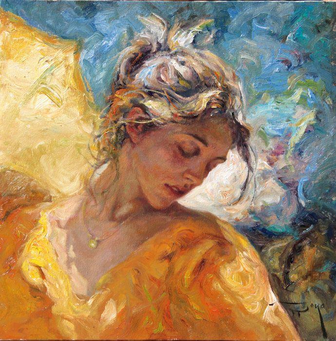 Master Spanish Painter of impressionist art Royo Jose Art