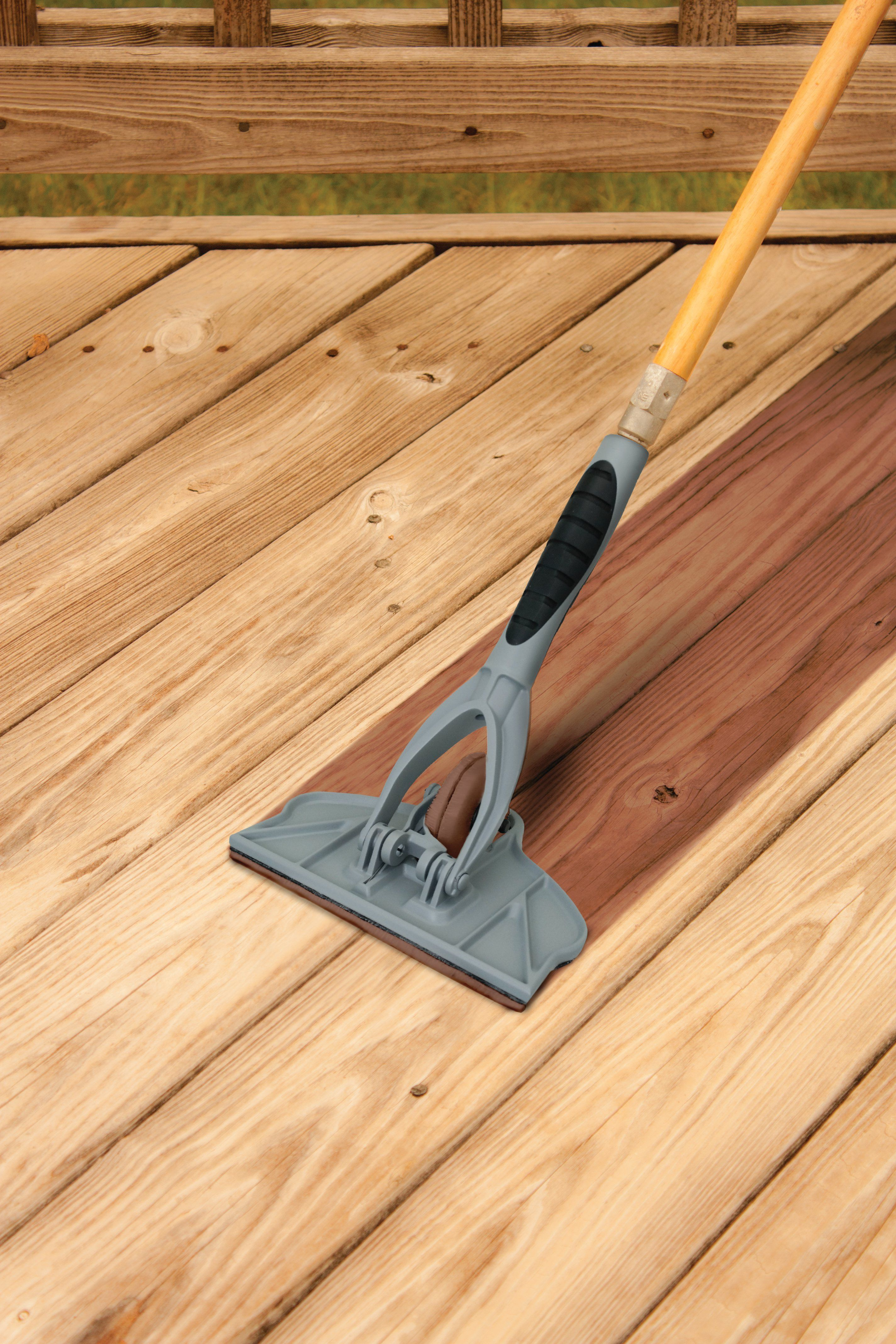 Deck Pro With Gap Wheel Stain Applicator Staining Deck Staining Wood Deck Brush