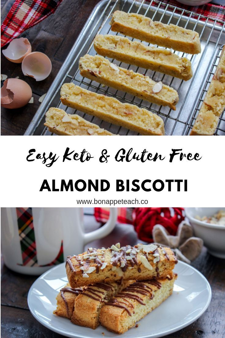 Keto Gluten Free Almond Biscotti Recipe Keto Cookies Food