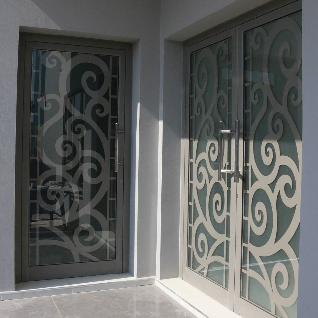 Instagram Photo By الساري للمنتوجات الخشبية May 9 2016 At 3 04am Utc Door Glass Design Modern Exterior Doors Door Gate Design