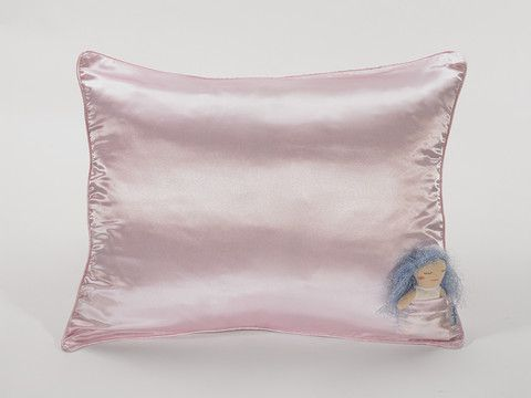 Satin Pillowcase For Curly Hair Custom Cotton Candy Pink Pillowcase For GirlsProtect Hair While Sleeping